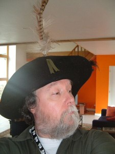 Me as Captain Grizzletusk the bloodthirsty pirate